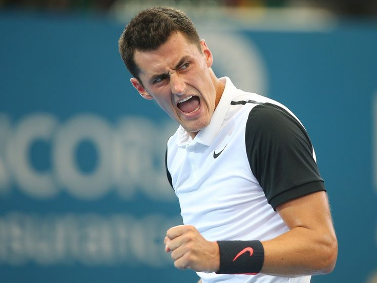 A jubilant Bernard Tomic has defeated Japanese No.2 seed Kei Nishikori in the Brisbane International quarterfinals. Picture: GETTY IMAGES