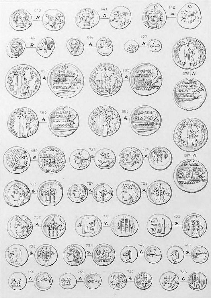 Διάφορα νομίσματα της Λευκάδος.