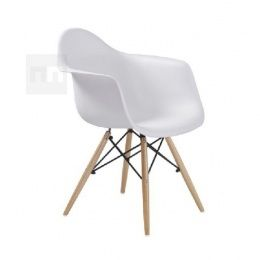 Jídelní židle moderní buk bílá DAMEN, Kategorie: Jídelní židle dřevěné