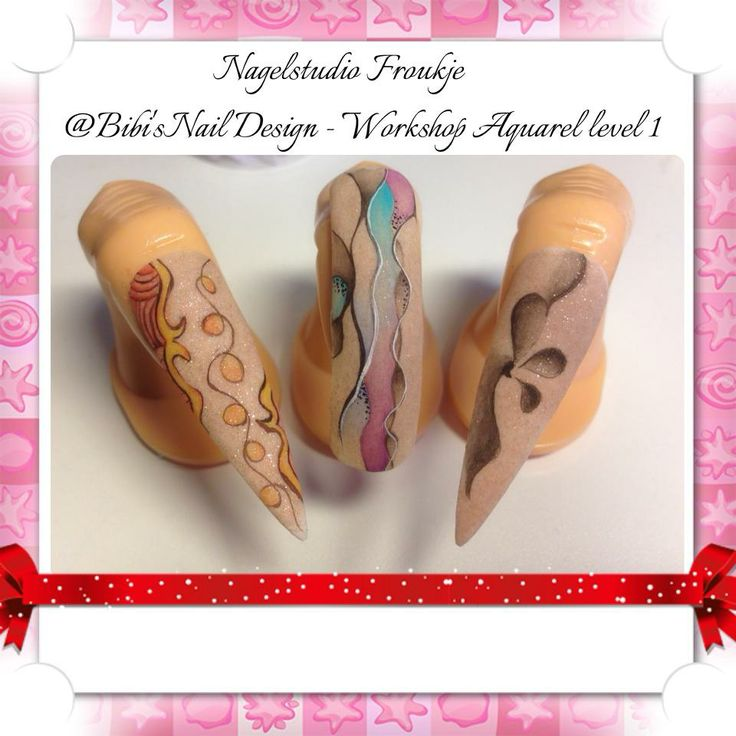 18 best nail art aquarell images on pinterest watercolor gel aquarel nail art design training level 1 prinsesfo Image collections