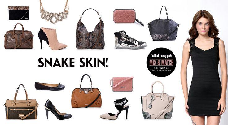 Mix & Match   Snake Skin!   http://fullahsugah.gr/ #MixAndMatch #FullahSugah