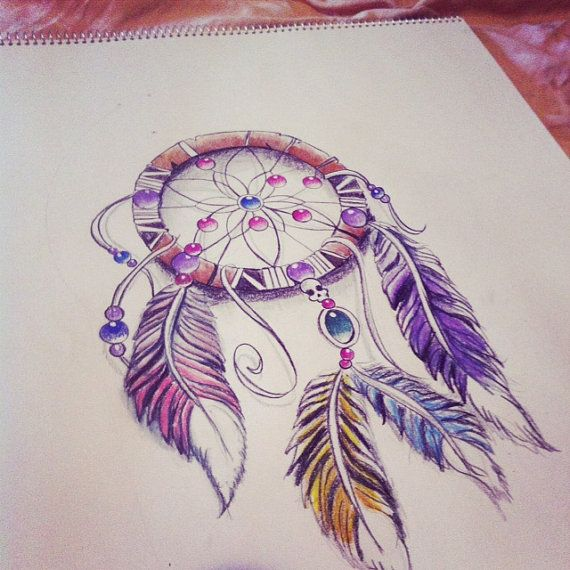 Dreamcatcher Original Prismacolor Drawing in by smackiegillum, $89.00