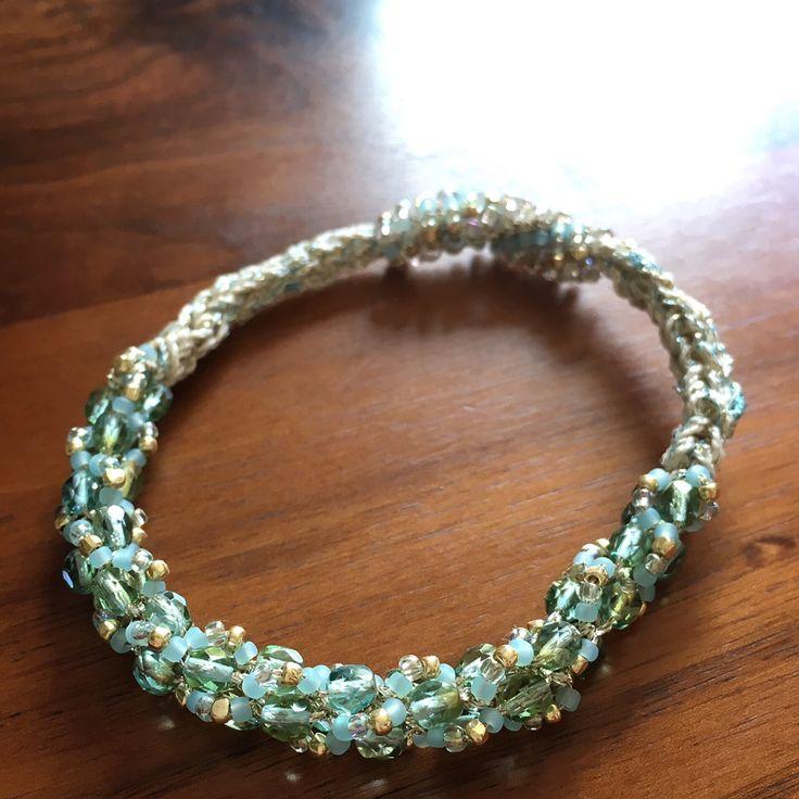 beads chrochet blacelet