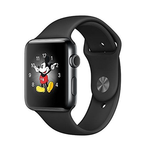 Apple Watch SERIES 2 Stainless steel 42mm (Space Black Stainless Steel Case with Black Sport Band) -- Continue to the product at the image link.