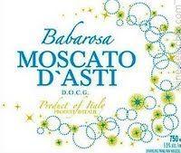 Babarosa Moscato D'Asti DOCG, Piedmont, Italy label dark blue bottle