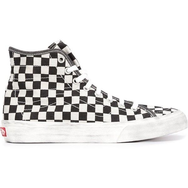 f91f347eba black and white checkered high top vans   Come and stroll!