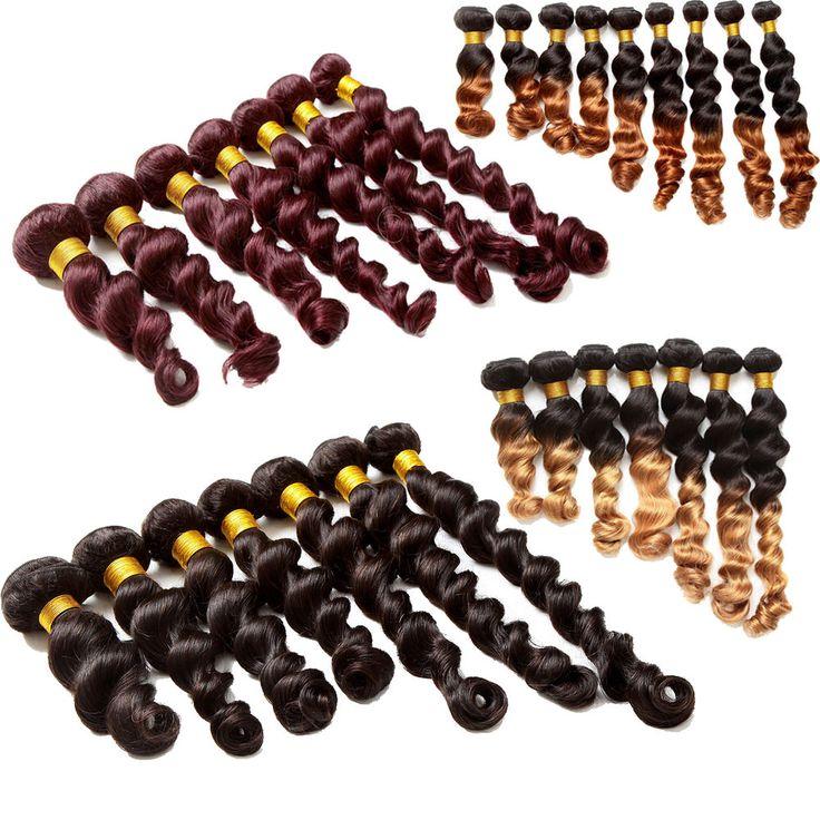 HOT! LOOSE Wave BRAZILIAN VIRGIN HUMAN HAIR Extension 1B/30# 1B/27# 99J#  Black  #WIGISS #HairExtension  Thank you in advance for your visit http://www.ebay.com/itm/HOT-LOOSE-Wave-BRAZILIAN-VIRGIN-HUMAN-HAIR-Extension-1B-30-1B-27-99J-Black-/361180948300?ssPageName=STRK:MESE:IT