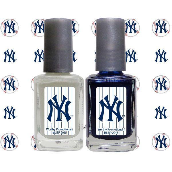 New York Yankees 2-Pack Nail Polish with Nail Decal