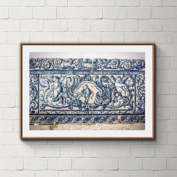 027_PrintAzulejos, Azulejos, Poster, Wall, Printable, Portugal, Pattern, Tiles, Photography, Instant download