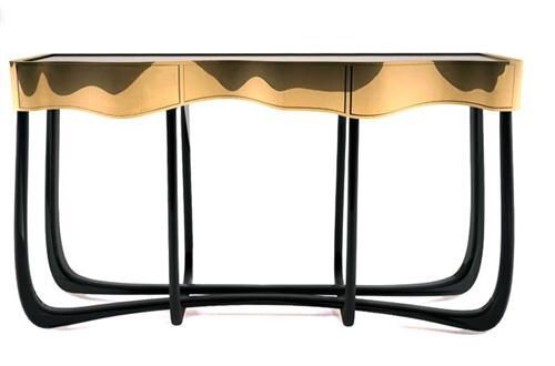 Sinuous Console Table by Boca do Lobo |  #DesignAndAbout #ArtOfInteriors #CreativeLiving #ContemporyCurated #DesignAndDecoration #DesignMatters #DreamHome #DreamsToReality #HomeStyling #HouseAndHome #InteriorDesign #InteriorStyling #LuxuryLiving #LuxuryInteriors #LiveLifeFabulously #MaisonDecor