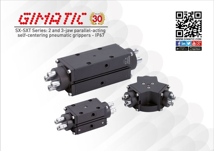 SX-SXT Series: IP67 degree - 2 and 3-jaw parallel-acting  self-centering pneumatic grippers - Serie SX-SXT: IP67 - pinza parallela ad azione autocentrante a 2 o 3 griffe. #parallel #gripper #selfcentering