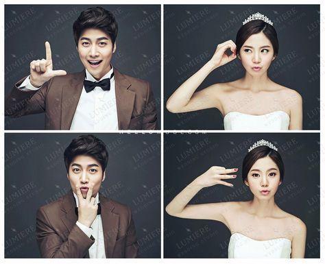 2016 new Korea pre wedding photo shoot sample photos in studio, Korean wedding…