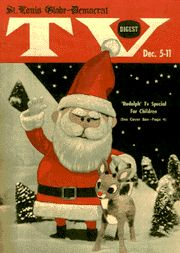 Vintage Christmas Magazine ~ St. Louis Globe-Democrat TV Digest ~ Rudolph the Red Nosed Reindeer