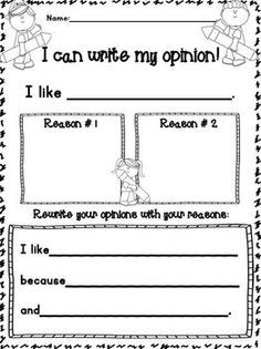opinion ideas kindergarten - Google Search