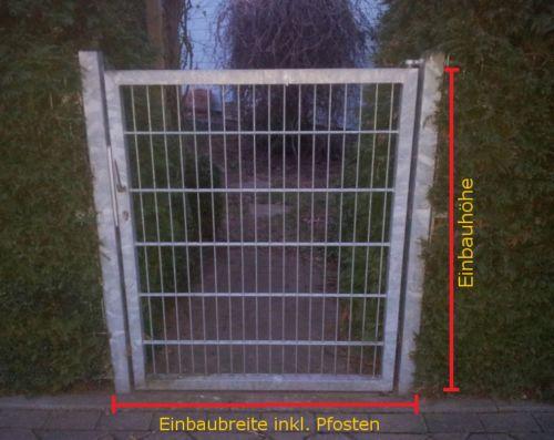 Gartentor-Pforte-verzinkt-Hoftor-Einfahrtstor-Tuer-Tor-Toerchen-125cm-x-123cm