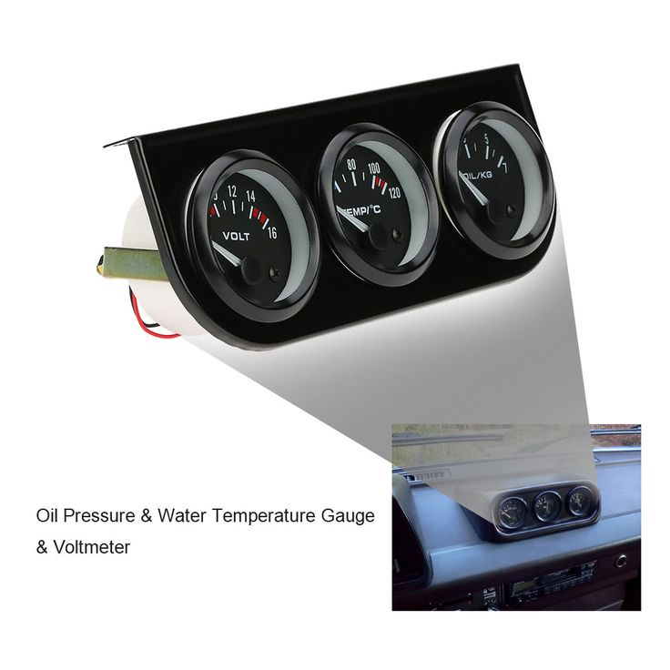 52mm Electronic Triple Gauge Kit Oil Pressure Water Temperature Sales Online k4201 - Tomtop.com