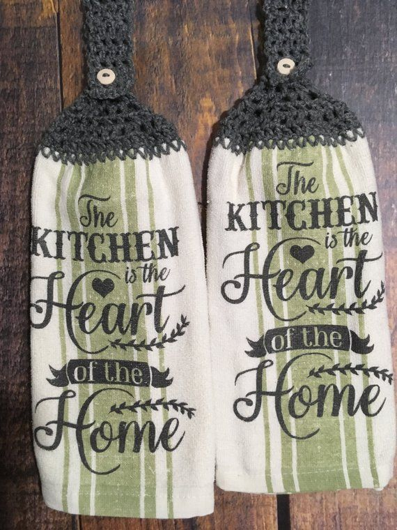 Miraculous Kitchen Is The Heart Of The Home Saying On Kitchen Towel Home Interior And Landscaping Eliaenasavecom