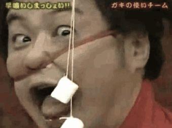 Marshmallow eating