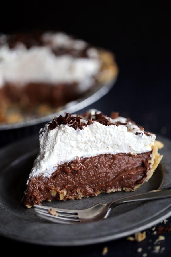 Chocolate Pudding Pie Recipe on http://RachelCooks.com