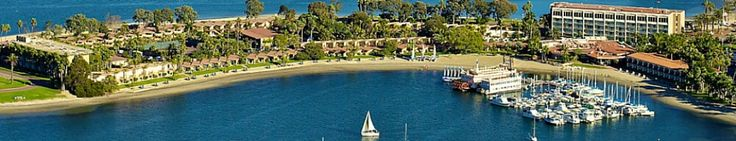 The Bahia is a beach resort that sits on a peninsula in San Diego's Mission Bay