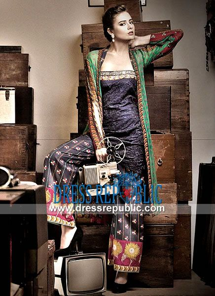 Embroidered Subhata Lawn Summer Collection 2014 on Dressrepublic  Pakistani Lawn Collection