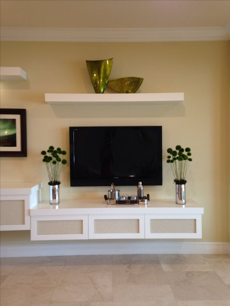 25 Great Ideas About Floating Tv Stand On Pinterest