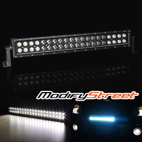 "120W 9600LM 21.5"" CREE LED OFF ROAD BLACK LIGHT BAR WORK LAMP ATV/UTV/BOAT/4X4"
