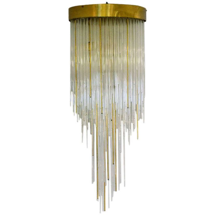 96 best lighting classics images on pinterest chandeliers light 1960s italian tier glass and brass flush mount waterfall chandelier mozeypictures Gallery