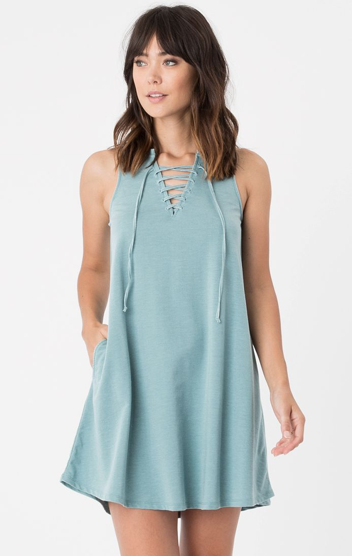 All Tied Up Dress by Z Supply (Lagoon)