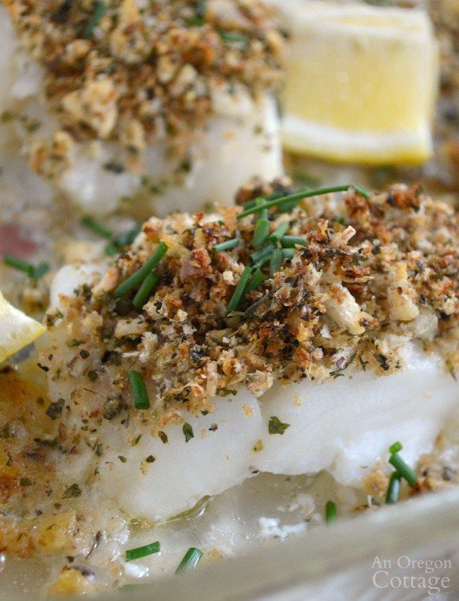 Baked White Fish with Parmesan-Herb Crust bakes in just 15 minutes.