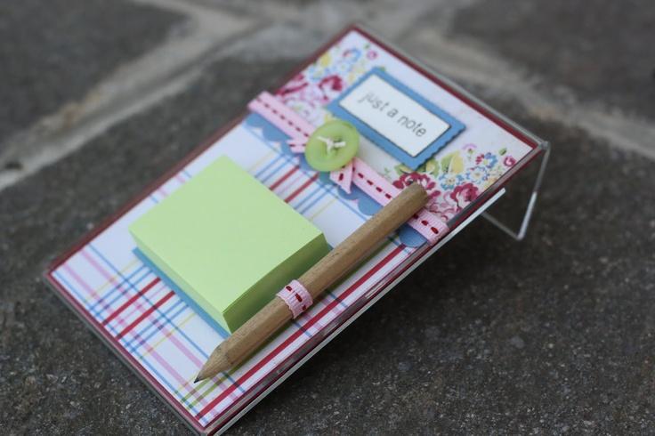 plastic frame post-it note holder