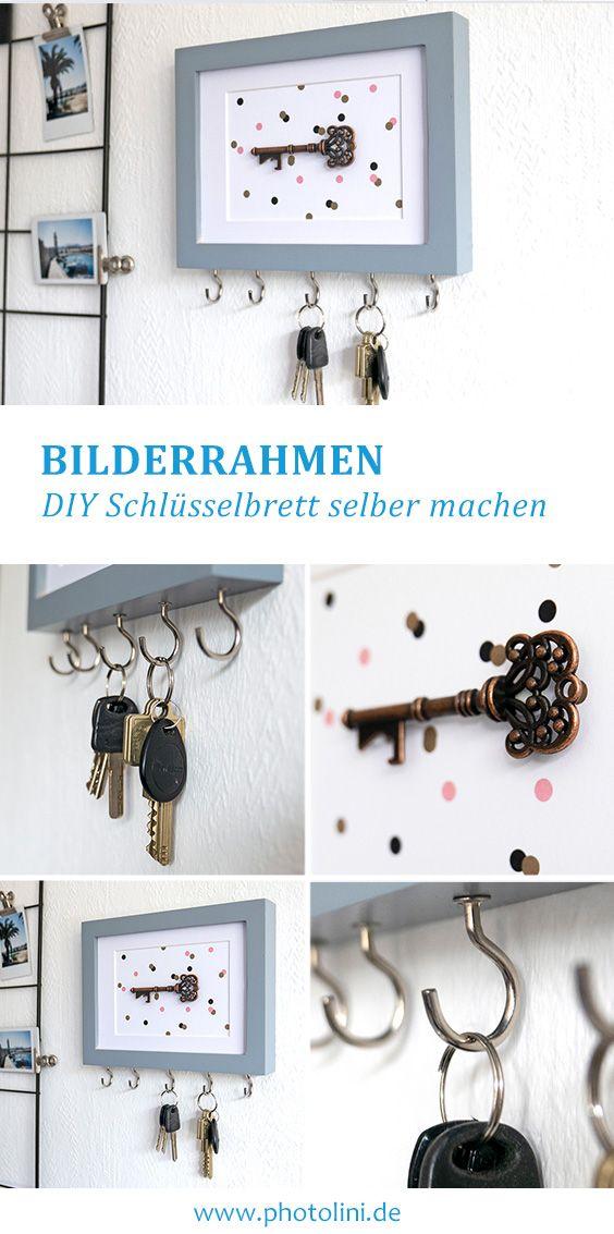 Schlüsselbrett DIY ganz einfach selber machen. #d…