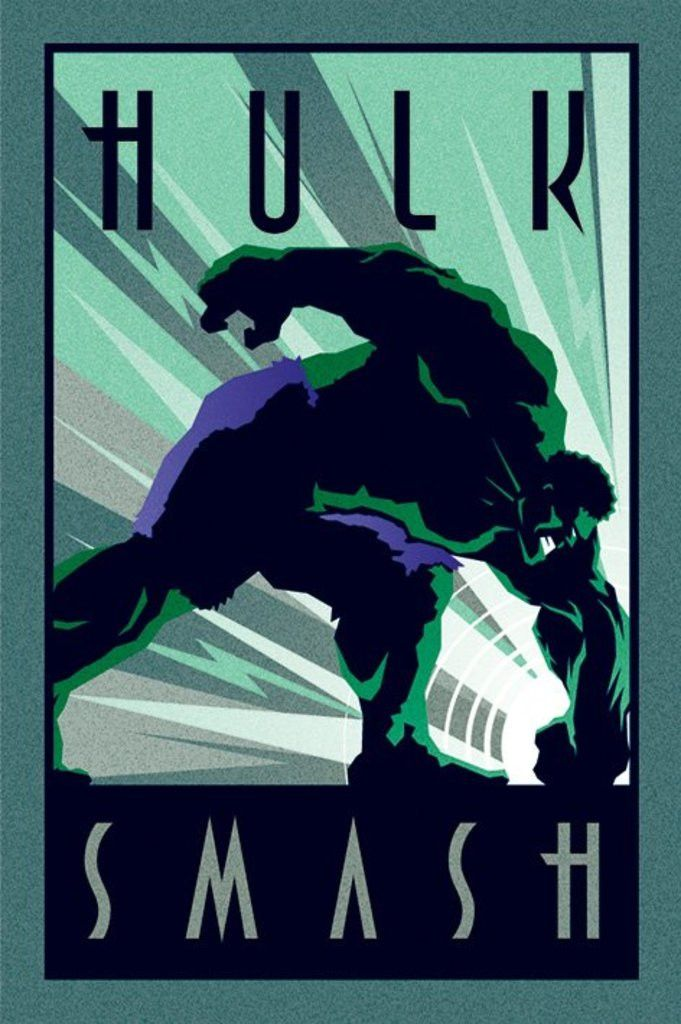 Hulk - Marvel Deco Smash - Official Poster. Official Merchandise. Size: 61cm x 91.5cm. FREE SHIPPING