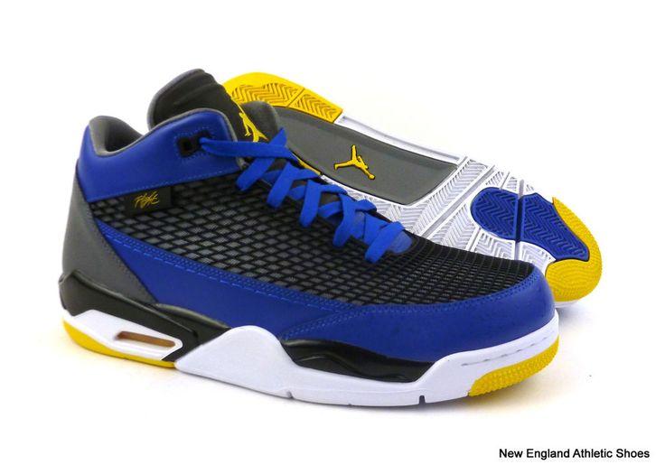 Nike mens Jordan Flight Club 80s basketball shoes size 11 - Royal / Maize #Nike #BasketballShoes