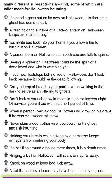 Halloween Superstitions   Halloween   Pinterest   Cas ...
