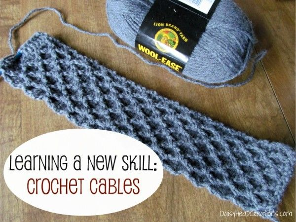 Learning a New Skill: #Crochet Cables {and With These 2 Hands linkup ...