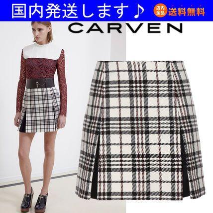 14秋☆タータンチェック スカート 450J13 COL 0099★CARVEN