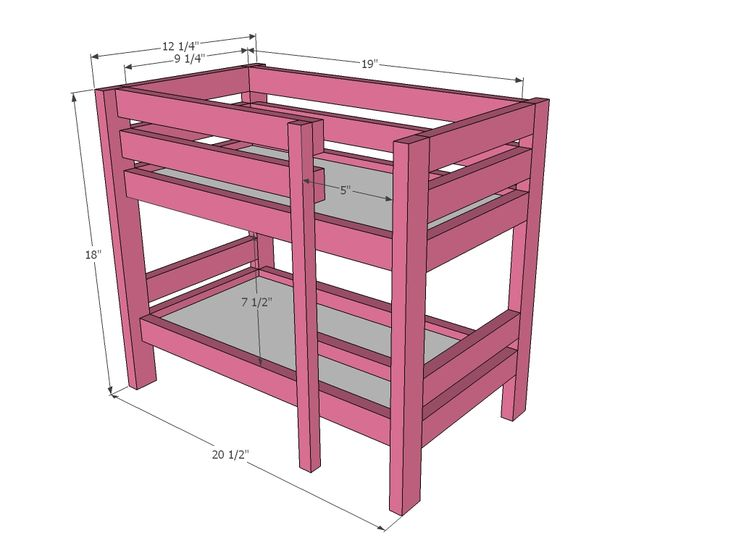 "Ana White | Build a Doll Bunk Beds for American Girl Doll and 18"" Doll 