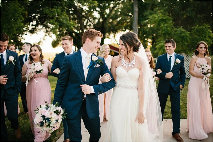 Tiffany + Josh __ an elegant, blush pink and navy blue inspiration laid back outdoor wedding at Willow Creek Ranch in Waxahachie, TX by North Texas Wedding Photographer, Rachel Meagan Photography _ 43
