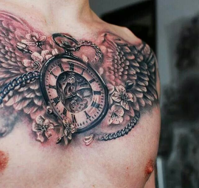 Time piece tattoos tattoos 3 pinterest time piece for Time piece tattoos