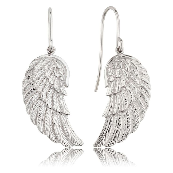 Earrings wing silver - $98.00 Click to open. Safe website and Worldwide delivery. Earrings with angel wing made of rhodium plated 925 sterling silver. Rhodium plating is an excellent surface finish, it enhances the
