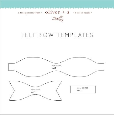 Best 25 felt bows ideas on pinterest diy bow diy hair bows and felt bow templates tried and true pronofoot35fo Image collections