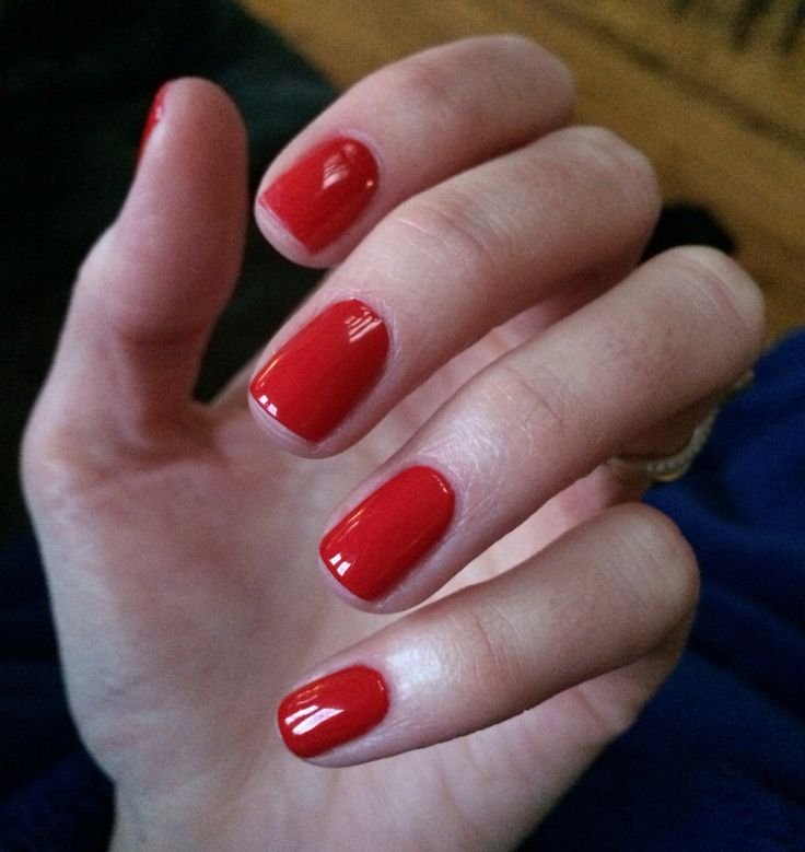CND Wildfire Shellac for classic red nails
