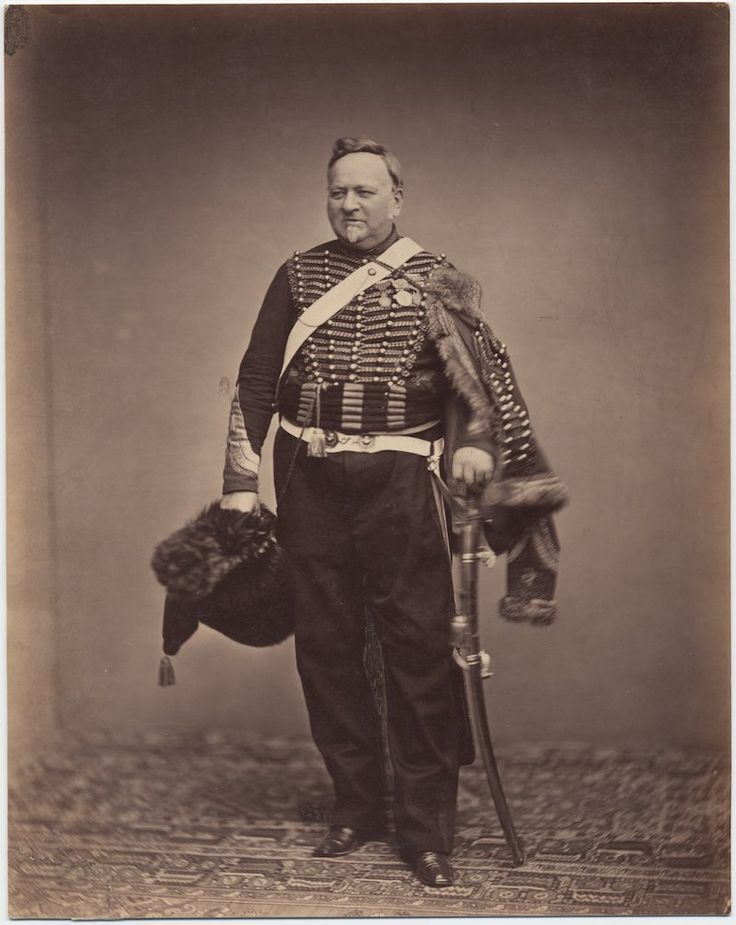 Quartermaster Sergeant Delignon, in the uniform of a Mounted Chasseur of the Guard, 1809-1815  The only surviving images of veterans of the Napoleonic Wars