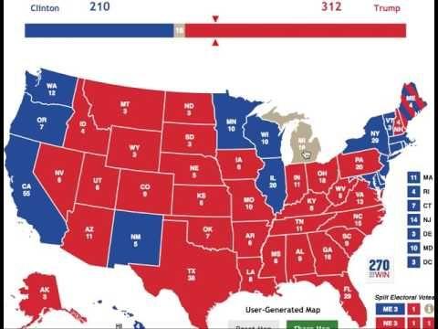 Donald Trump vs. Hillary Clinton | Electoral College, 2016 [Oct. 29] - YouTube