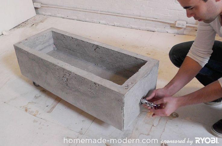 HomeMade Modern DIY Concrete Planter