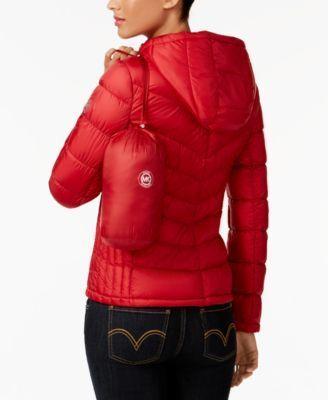 Michael Michael Kors Packable Down Puffer Coat - Tan/Beige XXL