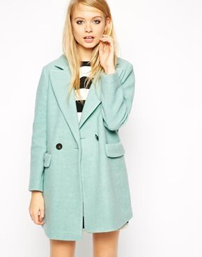 """{ASOS Coat with Cocoon Fit in Textured Wool - take 20% off with code """"STYLIST20""""}"""