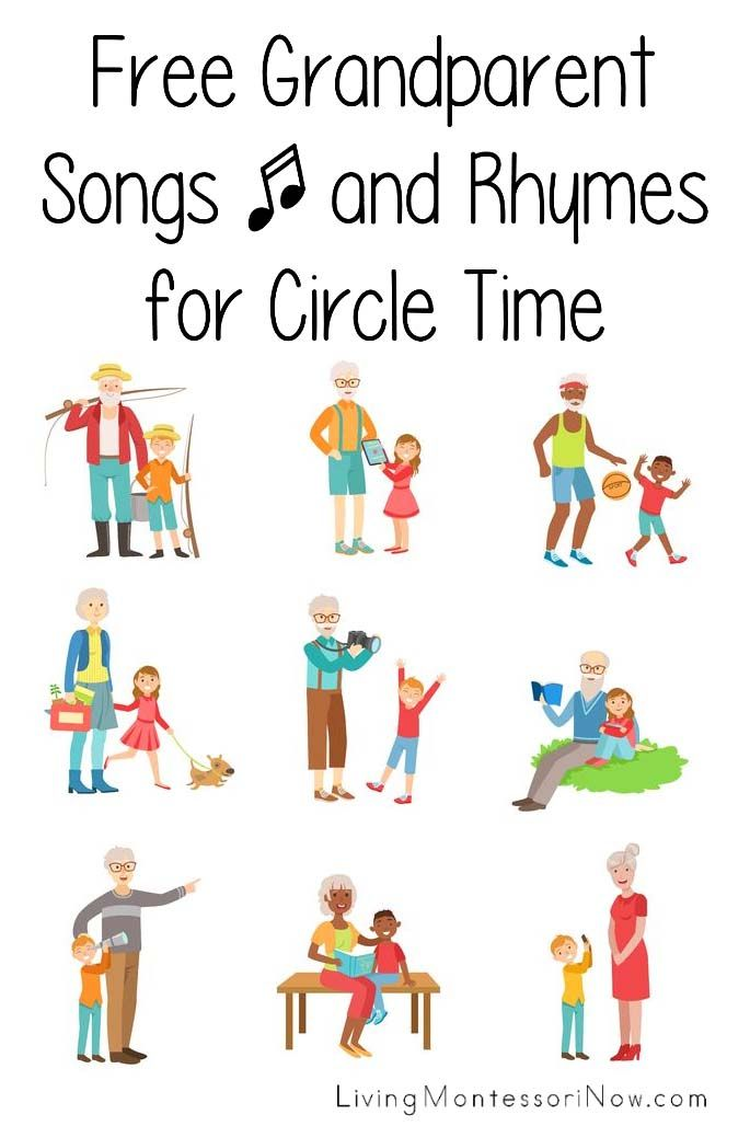Lots of free grandparent songs for kids to learn for Grandparents Day or to sing to a special grandparent at any time - Living Montessori Now