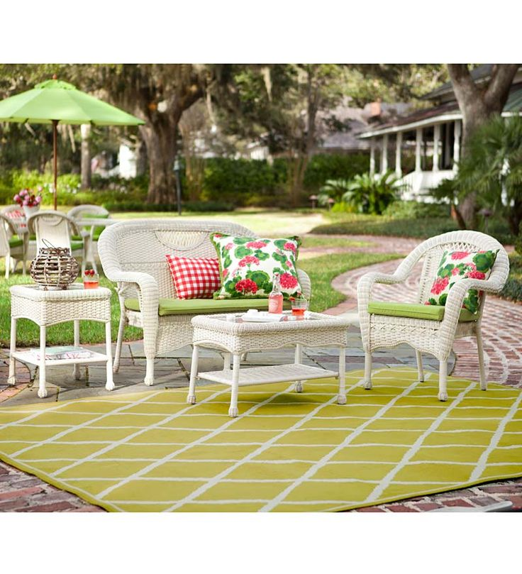 Our Best Selling, All Weather Prospect Hill Outdoor Resin Wicker Furniture  Seating Set Is Ideal For Leisurely .